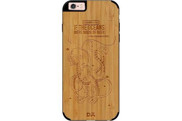 Beer topus Real Wood Bamboo Case For iPhone 6S