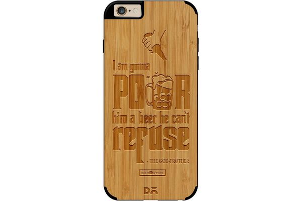 Cant Refuse Beer Real Wood Bamboo Case For iPhone 6