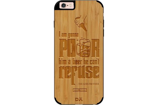 Cant Refuse Beer Real Wood Bamboo Case For iPhone 6S