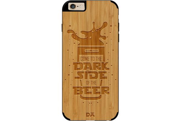 Dark Beer Rules Real Wood Bamboo Case For iPhone 6