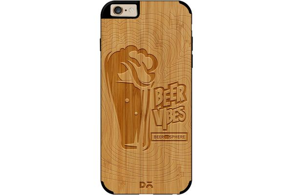 Dizzy Beer Vibes Real Wood Bamboo Case For iPhone 6