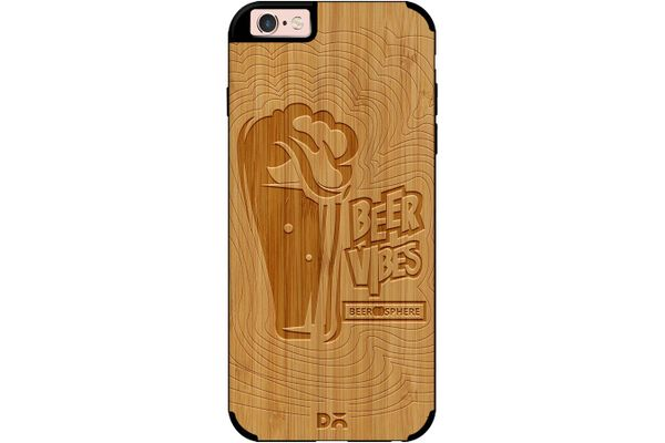 Dizzy Beer Vibes Real Wood Bamboo Case For iPhone 6S