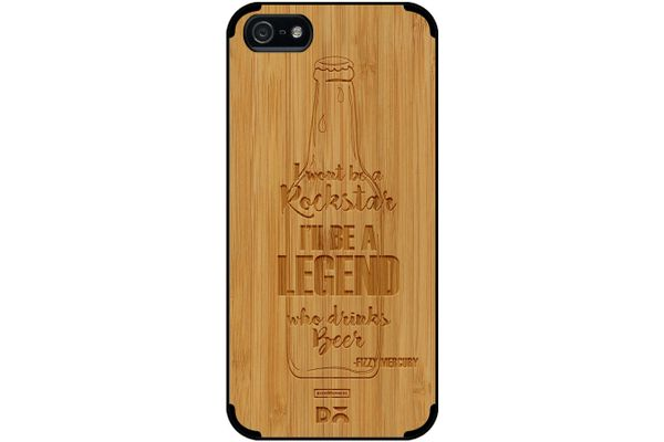 Legends of Beer Real Wood Bamboo Case For iPhone 5/5S