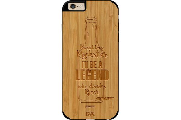 Legends of Beer Real Wood Bamboo Case For iPhone 6