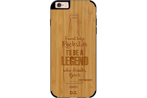 Legends of Beer Real Wood Bamboo Case For iPhone 6S