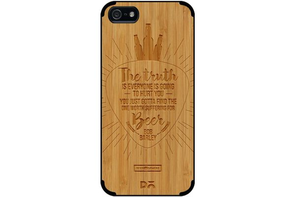 Truth Is Beer Real Wood Bamboo Case For iPhone 5/5S