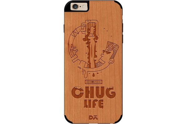 Beer Chug Life Real Wood Cherry Case For iPhone 6