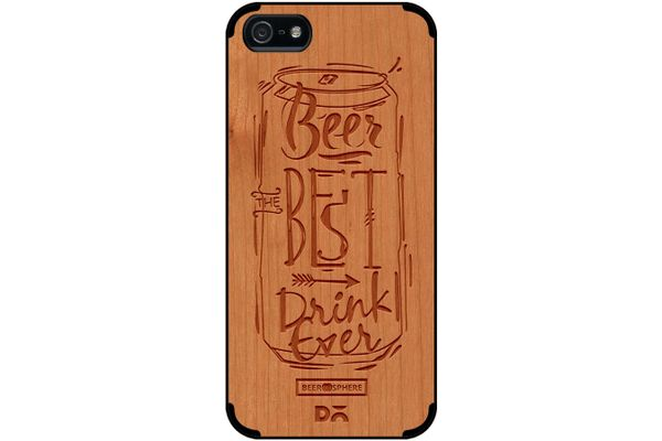 Beer Da Best Real Wood Cherry Case For iPhone 5/5S