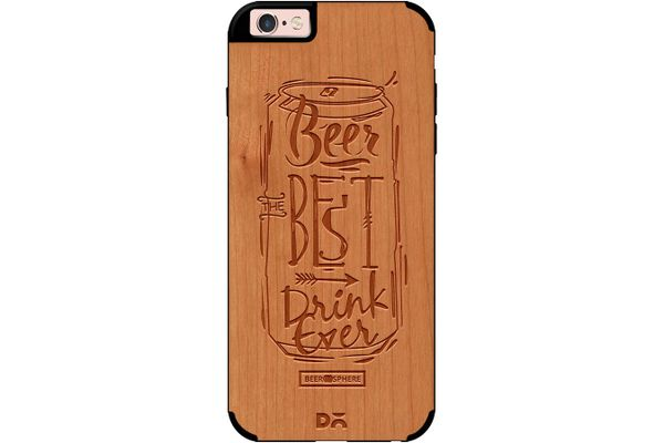 Beer Da Best Real Wood Cherry Case For iPhone 6S