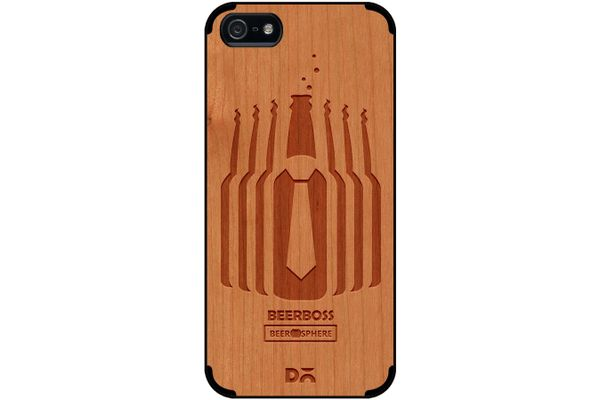 Beer Iz Boss Real Wood Cherry Case For iPhone 5/5S