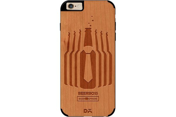 Beer Iz Boss Real Wood Cherry Case For iPhone 6