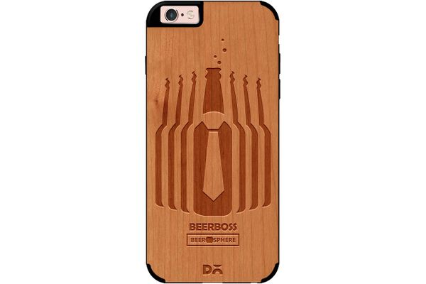 Beer Iz Boss Real Wood Cherry Case For iPhone 6S