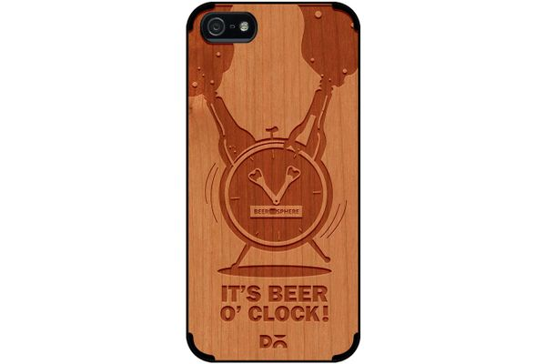 Beer O'Clock Froth Real Wood Cherry Case For iPhone 5/5S