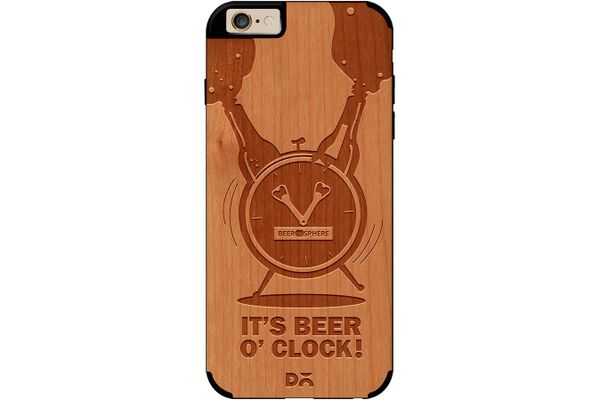 Beer O'Clock Froth Real Wood Cherry Case For iPhone 6