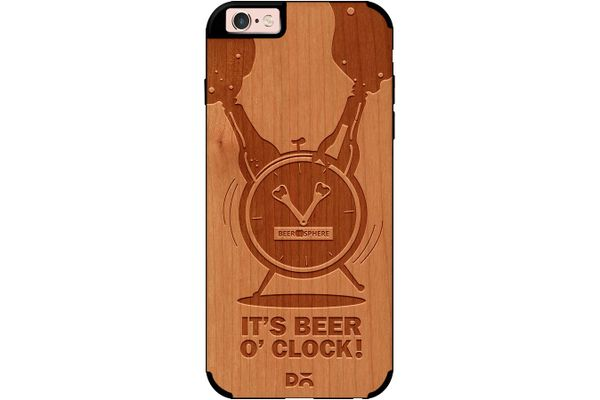 Beer O'Clock Froth Real Wood Cherry Case For iPhone 6S