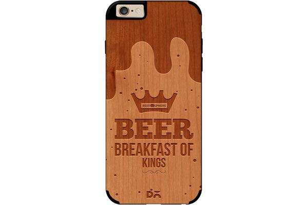 Beer BoK Real Wood Cherry Case For iPhone 6