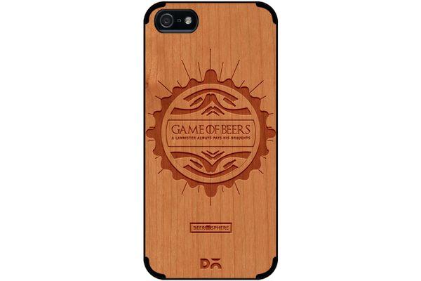 Beer GoT Real Wood Cherry Case For iPhone 5/5S