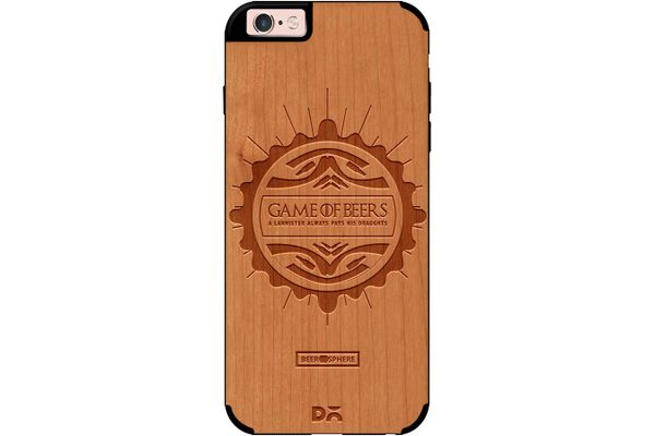 Beer GoT Real Wood Cherry Case For iPhone 6S