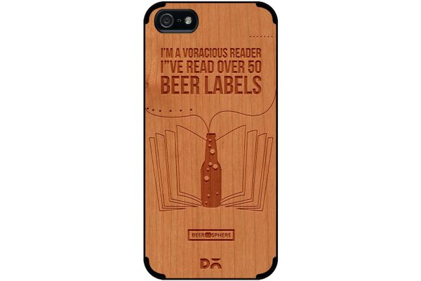 Beer Labels Real Wood Cherry Case For iPhone 5/5S