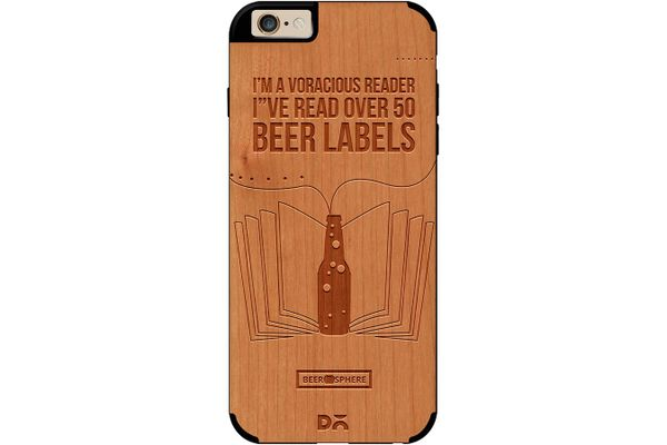 Beer Labels Real Wood Cherry Case For iPhone 6