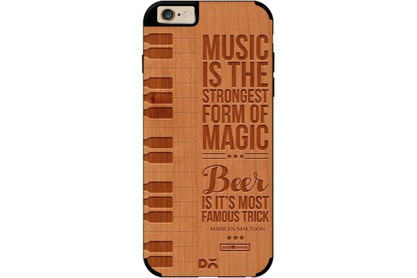 Beer Magic Real Wood Cherry Case For iPhone 6