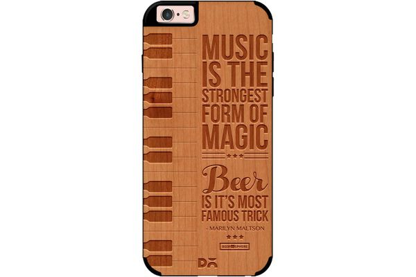 Beer Magic Real Wood Cherry Case For iPhone 6S