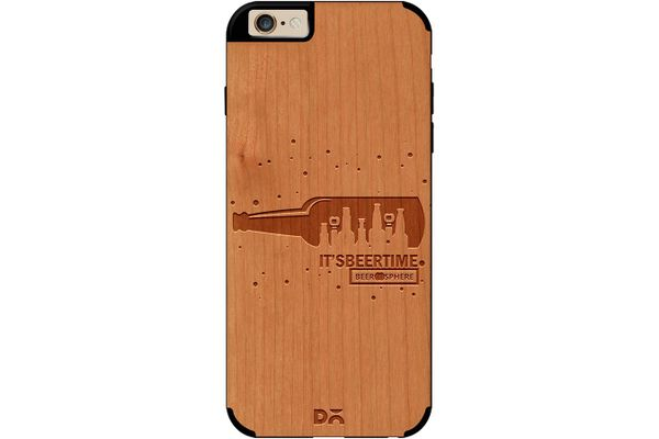 Beer O'Clock Real Wood Cherry Case For iPhone 6