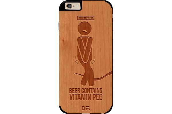 Beer Pressure Real Wood Cherry Case For iPhone 6