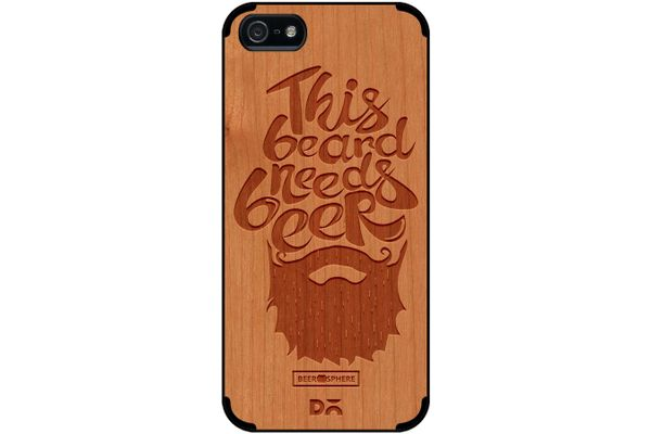 Beer Shampoo Real Wood Cherry Case For iPhone 5/5S