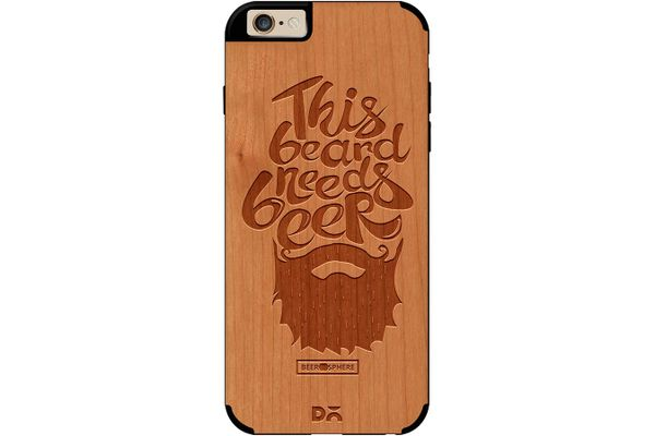 Beer Shampoo Real Wood Cherry Case For iPhone 6