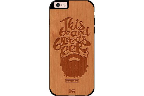 Beer Shampoo Real Wood Cherry Case For iPhone 6S