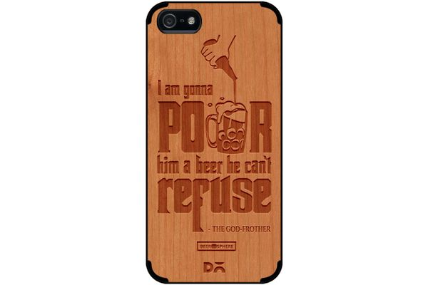 Cant Refuse Beer Real Wood Cherry Case For iPhone 5/5S