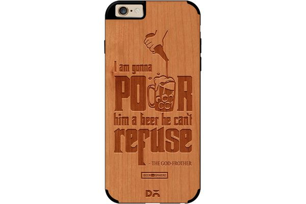 Cant Refuse Beer Real Wood Cherry Case For iPhone 6
