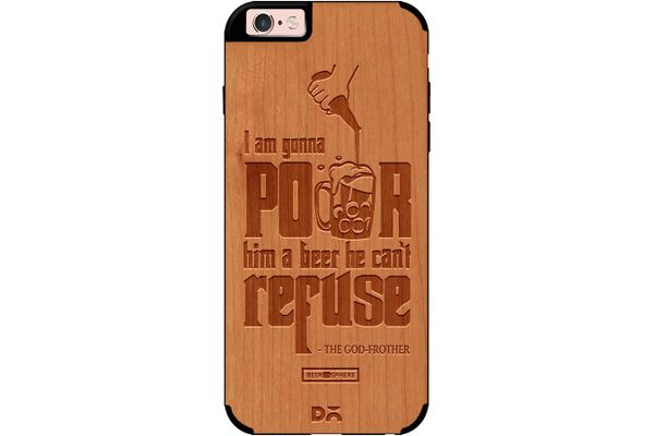 Cant Refuse Beer Real Wood Cherry Case For iPhone 6S