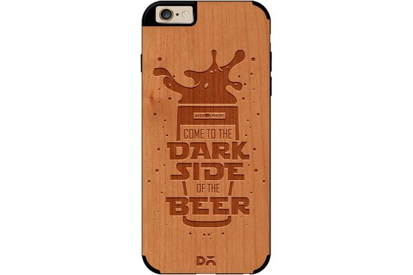 Dark Beer Rules Real Wood Cherry Case For iPhone 6