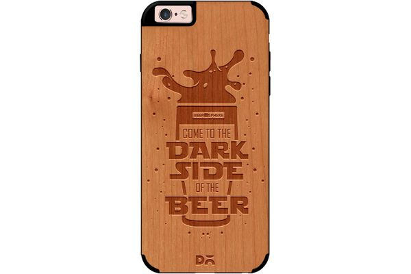 Dark Beer Rules Real Wood Cherry Case For iPhone 6S