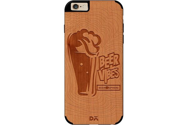 Dizzy Beer Vibes Real Wood Cherry Case For iPhone 6