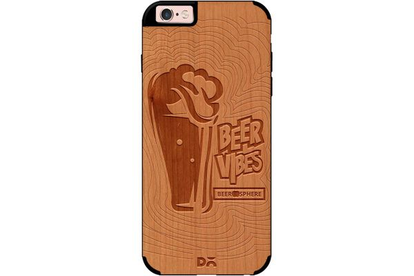 Dizzy Beer Vibes Real Wood Cherry Case For iPhone 6S