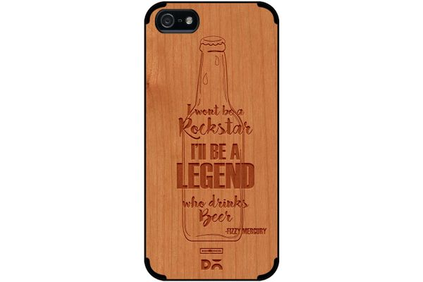 Legends of Beer Real Wood Cherry Case For iPhone 5/5S