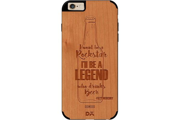 Legends of Beer Real Wood Cherry Case For iPhone 6
