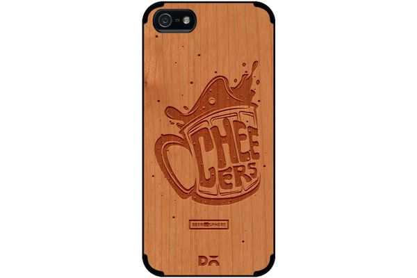 Life is BREWtiful Real Wood Cherry Case For iPhone 5/5S