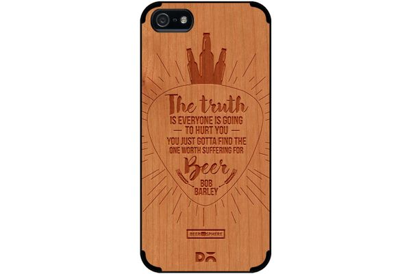 Truth Is Beer Real Wood Cherry Case For iPhone 5/5S