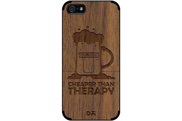 Beer Cheap Therapy Real Wood Maple Case For iPhone 5/5S