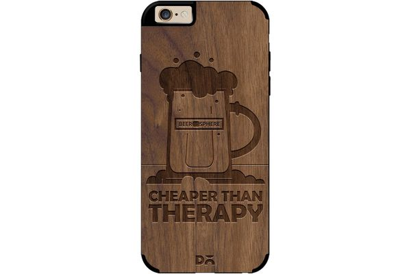 Beer Cheap Therapy Real Wood Maple Case For iPhone 6