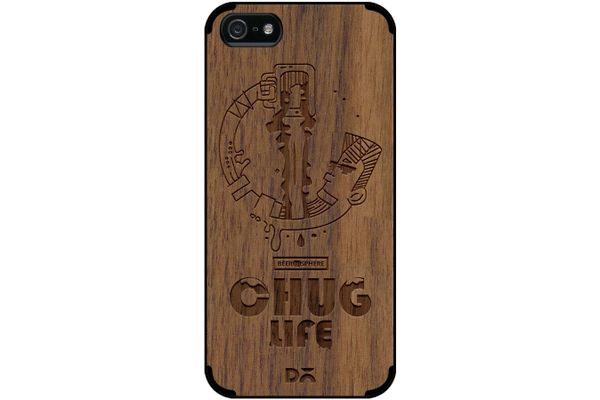 Beer Chug Life Real Wood Maple Case For iPhone 5/5S