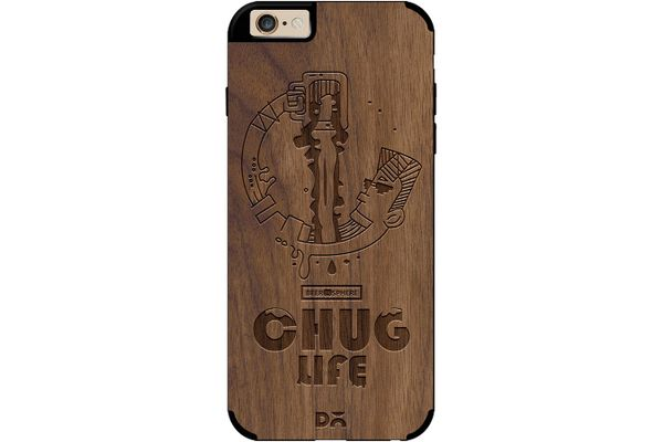 Beer Chug Life Real Wood Maple Case For iPhone 6