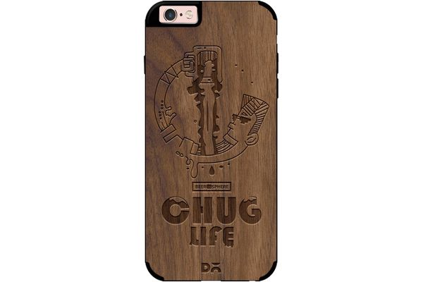 Beer Chug Life Real Wood Maple Case For iPhone 6S