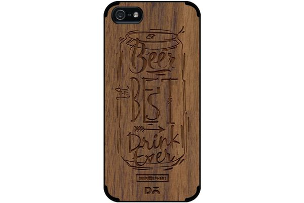 Beer Da Best Real Wood Maple Case For iPhone 5/5S
