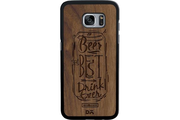 Beer Da Best Real Wood Maple Case For Samsung Galaxy S7 Edge