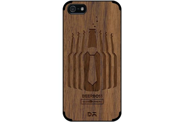 Beer Iz Boss Real Wood Maple Case For iPhone 5/5S